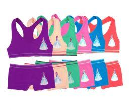144 Units of Girl's Seamless Racerback Bra + Boxer Set - Girls Underwear and Pajamas