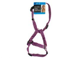 36 Units of Fashion Pink Adjustable Nylon Dog Harness - Pet Toys