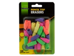 72 Units of Pencil Top Erasers Set - Pens & Pencils
