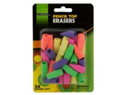72 Units of Pencil Top Erasers Set - Pens & Pencils