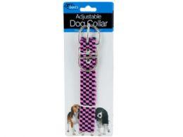 72 Units of Pink Fashion Adjustable Nylon Dog Collar - Pet Toys