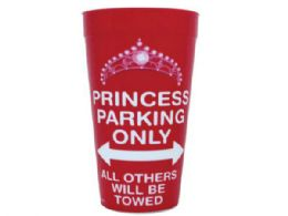 144 Units of Princess Parking Only Plastic Tumbler Cup - Cups