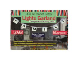 6 Units of LED Alphabet Letter Lights Garland - LED Party Supplies