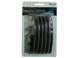 72 Units of Black Hair Comb Set - Hair Accessories