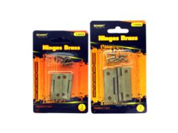 144 Units of Brass Hinges Assortment - Home Accessories
