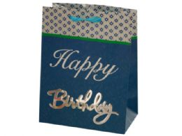 144 Units of Small Happy Birthday Giftbag 4 Styles Assorted - Gift Bags