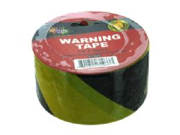144 Units of Black And Yellow Cautionary Tape - Tape