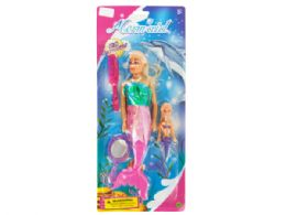 36 Units of Mermaids With Accessories Set - Girls Toys