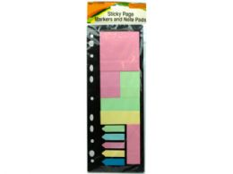72 Units of Sticky Page Markers And Note Pads - Markers and Highlighters