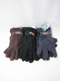 96 Units of Winter Sport Mens Warm Gloves - Knitted Stretch Gloves