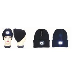 36 Units of Led Light Winter Beanie Hat - Winter Beanie Hats