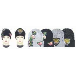 36 Units of Winter Printed Hats - Winter Beanie Hats
