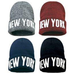 36 Units of New York Winter Beanie Hat - Winter Beanie Hats