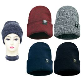 48 Units of Warm Winter Fashion Beanie Hat - Winter Beanie Hats