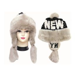 12 Units of Winter Fashion Ladies New York Fur Hat - Winter Helmet Hats