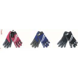 36 Units of Men's Touch Sport Glove In Assorted Colors - Conductive Texting Gloves