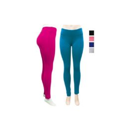 24 Units of Ladies Yoga Leggings In Assorted Color - Womens Leggings