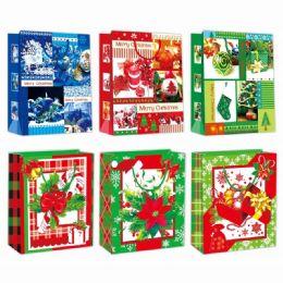 96 Units of Gift Bag Xmas Three Pack Small - Gift Bags Christmas