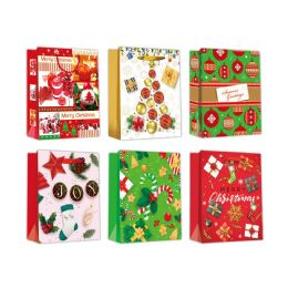 96 Units of Gift Bag Xmas Three Pack In Small - Gift Bags Christmas