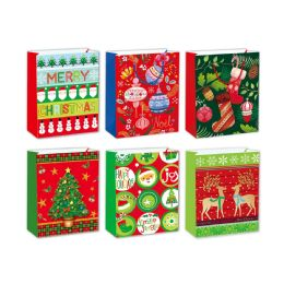 96 Units of Gift Bag Xmas Two Pack Size Large - Gift Bags Christmas