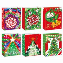 96 Units of Gift Bag Xmas Size Xlarge - Gift Bags Christmas