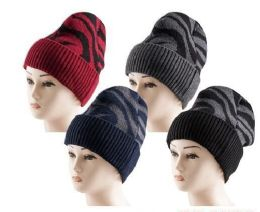 36 Units of Winter Beanie Hats Unisex Thermal Faux Fur Line - Winter Beanie Hats