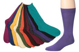 12 Units of Mens Bright Color Dress Socks Size 10-13 - Mens Dress Sock