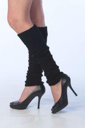 60 Units of Womens Legwarmers In Solid Black - Arm & Leg Warmers