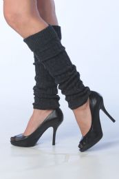 60 Units of Womens Thick Heavy Legwarmers In Charcoal Gray - Arm & Leg Warmers