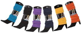 60 Units of Womens Legwarmers In Assorted Colors - Arm & Leg Warmers