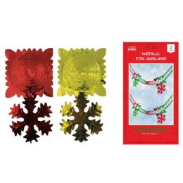144 Units of Xmas Foil Garland - Christmas Decorations
