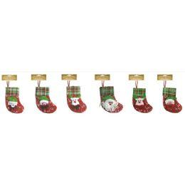 60 Units of Xmas Ornament Stocking - Christmas Ornament