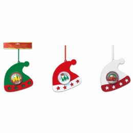 48 Units of Xmas Ornament Hat Globe - Christmas Ornament