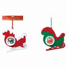 96 Units of Xmas Ornament Sled - Christmas Ornament
