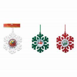 96 Units of Xmas Ornament Snowflake - Christmas Ornament