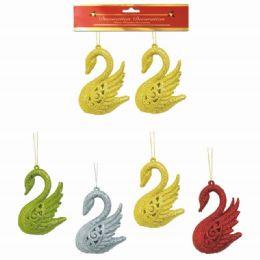 96 Units of Xmas Ornament Foam Swan - Christmas Ornament