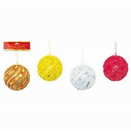 48 Units of Eight Centimeter One Pack Xmas Ball - Christmas Ornament