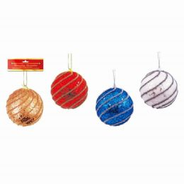 48 Units of Xmas Ten Centimeter Foam Ball - Christmas Ornament