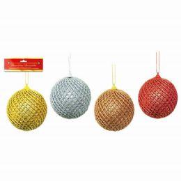 96 Units of Xmas Ten Centimeter One Pack Foam Ball - Christmas Ornament