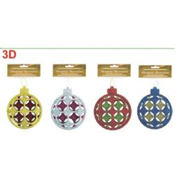 96 Units of Six Inch Xmas Ornament Ball - Christmas Ornament