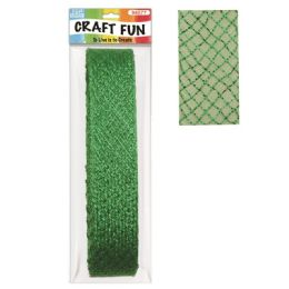 96 Units of Mesh Ribbon Green Twenty Six Feet - Christmas Gift Bags and Boxes