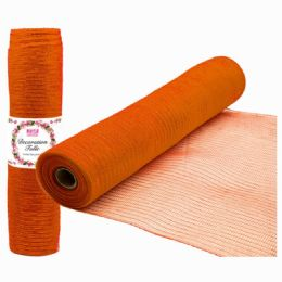 96 Units of Tulle Roll Holiday In Orange Five Yards - Christmas Decorations