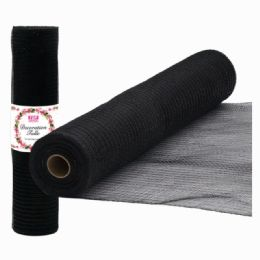 96 Units of Tulle Roll Holiday In Black Five Yards - Sewing Supplies