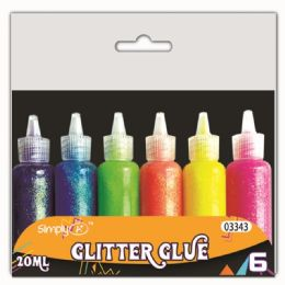96 Units of Glitter Glue - Craft Glue & Glitter