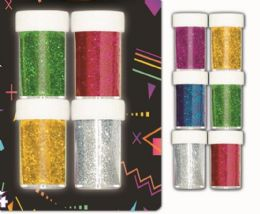 96 Units of Four Color Glitter Shaker - Craft Glue & Glitter