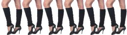 Womens Warm Winter Leg Warmers, Soft Colorful And Trendy (6 Pack Black) - Womens Leg Warmers