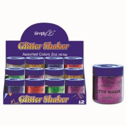 96 Units of Six Color Glitter Shaker Two Ounce - Craft Glue & Glitter