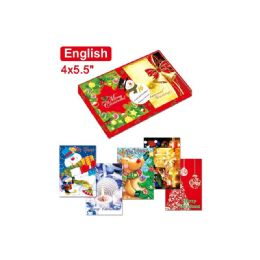120 Units of Twelve Pack Xmas Cards English - Christmas Cards