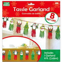 96 Units of Xmas Tassel Garland - Christmas Decorations