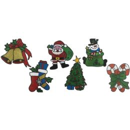 120 Units of Xmas Gel Window Cling - Christmas Decorations